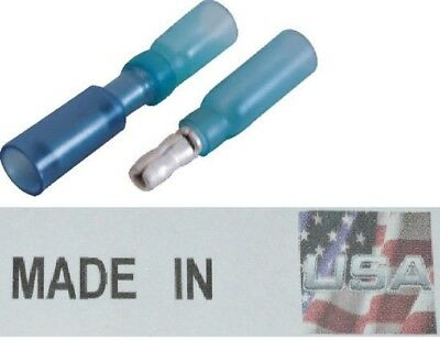 (50) 16-14 3M HEAT SHRINK BULLET CONNECTOR MALE / FEMALE QUICK DISCONNECT USA