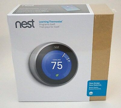 *NEW SEALED* Nest 3rd Generation Learning Thermostat T3007ES