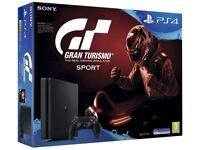 New Playstation 4 in box, never been used comes with 1 pads and Gran Tursimo game