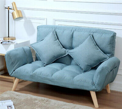 Modern Style Futon Sofa Bed Futon Couch Sleeper Lounge  with Pillows  - Sofa Couch Sleeper