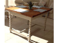 Oak Vintage Shabby Chic Dining Table Extendable