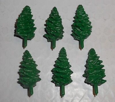 --Six Trees For Gilbert American Flyer All Aboard Panel Train Sets--NOS--