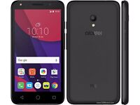 "BRAND NEW ALCATEL ONETOUCH PIXI 4 5"" IN BLACK UNLOCKED SIM FREE 4GB SMARTPHONE POST TO UK MAINLAND"