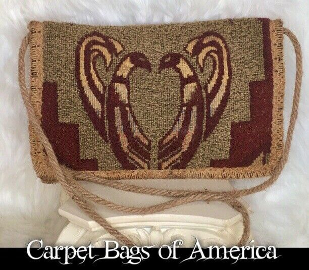 "Vintage ""Carpet Bags of America"" Boho Tribal"