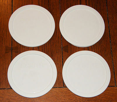 Cereal Dish - 4 NEW Corelle White Round Plastic Lid for 28oz Soup Cereal Bowl Dish 428-PC 6.5""