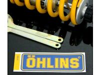 Genuine OHLINS STICKERS X2 Honda Yamaha Suzuki Motor Bike Race Track Decals