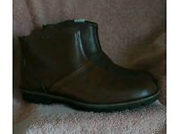 Men's Leather Ankle boots - new 11uk