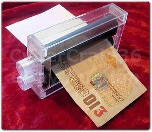 MAGIC MONEY PRINTER TRICK PRINT LOTTERY TICKETS NOTE BILLS MAKER ROLLER PRINTING