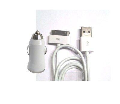 2 in1 Alimentación Cable Cargador Para Apple Ipod IPHONE 2 3G 3GS...