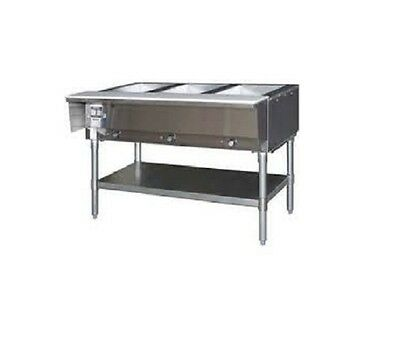 Eagle Group Ht3-ng 48-inch 3-well Gas Steam Table Natural Gas Nsf Cul Kcl