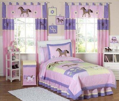 Discount Girls Bedding - Jojo Discount Cheap Pink Western Horse Cow Girl Kids Twin Size Bedding Room Set