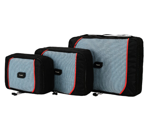 travela | ecubes - SET OF 3 BRAND NEW BLACK / RED PACKING