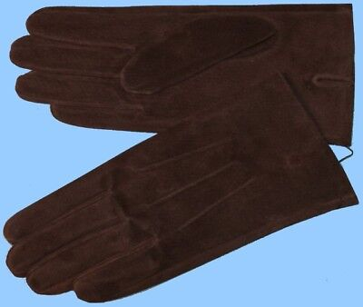 c2caa4037da NEW WOMENS size 8.5 or 2XL BROWN PIG SUEDE LEATHER UNLINED GLOVES shade10535