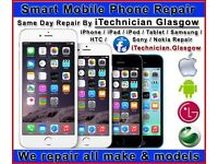 LOW COST REPAIRS LAPTOP PC APPLE iPHONE 7 6 iPAD SONY LG Cracked Screen iRepair Telecom Shop Glasgow