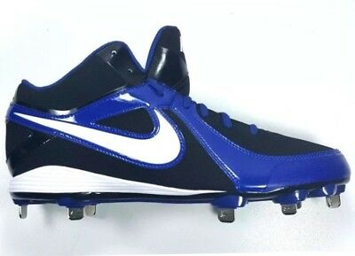 new concept 5e4ee 53f6e Nike MVP Strike Low Metal Baseball Cleats Metal Bottom Blue Black Men Size  13