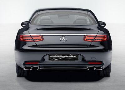 Mercedes Benz S-Klasse C217 A217 Heckblende Endrohre AMG 63 Look ab Bj. 2014