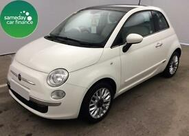 £143.52 PER MONTH WHITE 2014 FIAT 500 1.2 S/S LOUNGE 3 DOOR PETROL AUTOMATIC
