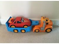 Dickie toys lorry car transporter