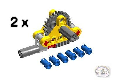 LEGO Technic - 2 x Perpendicular Gear Reduction Assembly - New - (NXT,EV3,Robot) - Lego Gear Set