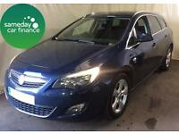 £132.89 PER MONTH BLUE 2011 VAUXHALL ASTRA TOURER 2.0 SRI ESTATE DIESEL MANUAL