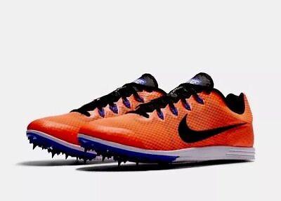Nike Men Zoom Rival D 9 Spikes Track Field Racing 806556 804 Orange Size 12 #C84