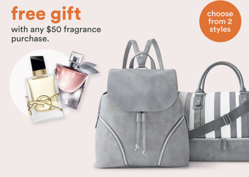 beauty grey backpack free gift august 2020