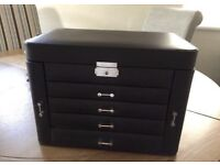 Jewellery box - bonded leather black