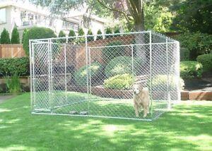 Lucky Dog 6'H x 5' W x 15' L or 10'W x 10' L Chain Link Kennel