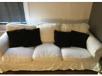 FREE DELIVERY IKEA EKTORP WHITE 3 SEATER SOFA