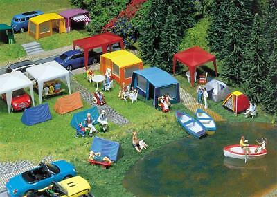 130504 Faller HO Kit of a Set of camping tents