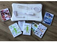 Nintendo Wii fit board, accessories and games