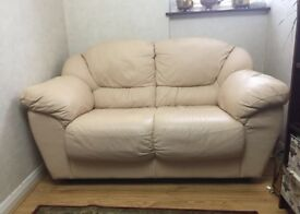 Genuine leather double sofa great condition