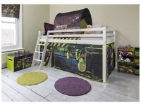 Kids bed for sale - Noa and Nani children's cabin bed midsleeper with slide