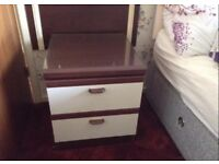 2 x identical bedside tables
