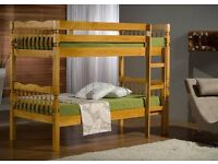 Single Pine Wood Bunk Bed--Convertible Into 2 Single Beds -- Same Day Free Delivery--Cheapest Price