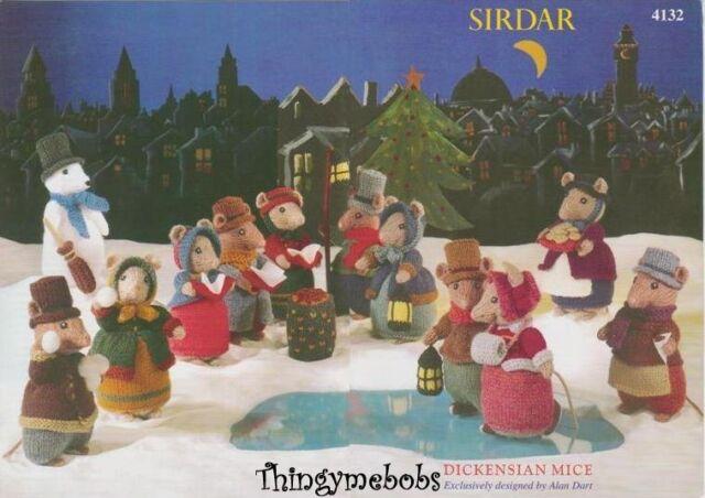 SIRDAR/ALAN DART 4132 DICKENSIAN MICE ORIGINAL KNITTING PATTERN - CHRISTMAS