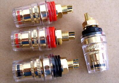 2 pairs Full copper crystal speaker terminals /crystal terminal(2 Red + 2 Black)