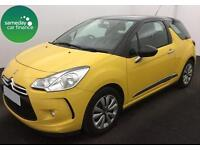 £171.14 PER MONTH YELLOW 2013 CITROEN DS3 1.2 VTi DSign 3 DOOR PETROL MANUAL