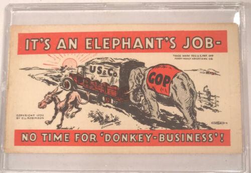 1932 Political Ad Card