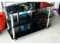 TV STAND with Chrome Legs 80cm