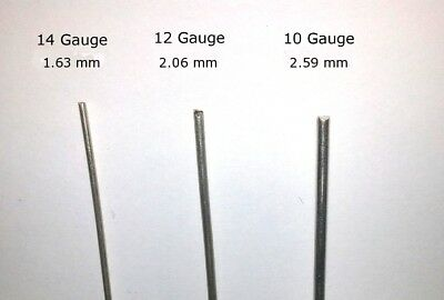 """2X 6"""" Pure  99.99% Silver Wire Rods 14, 12, or 10 Gauge For Colloidal Silver"""
