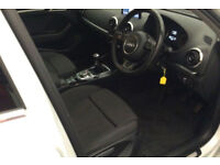 White AUDI A3 SALOON 1.2 1.4 1.6 1.8 2.0 TDI Diesel SPORT FROM £41 PER WEEK!