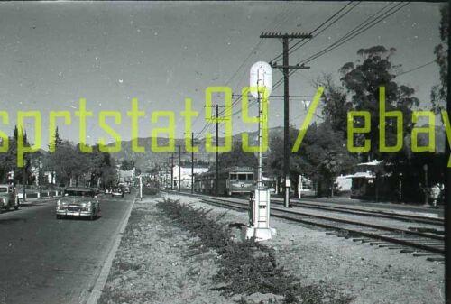 PE Pacific Electric Railway - Interurban Action Shot - Vtg Railroad Negative