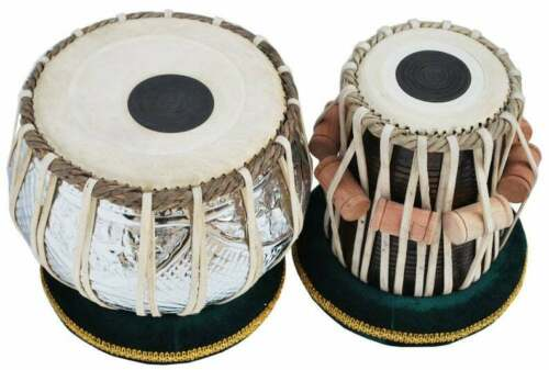 Set Of 2 Designer Chromed Copper Bayan Sheesham Dayan Tabla Professional 3 Kg