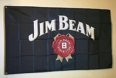 Jim Beam Logo 3x5ft Flag Banner Bar Promotion Tiki Decor Man Cave Whiskey Party