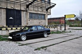 Bmw e34 banded steel wheels, 17 inch, 5x120 slammed stance rat MINT
