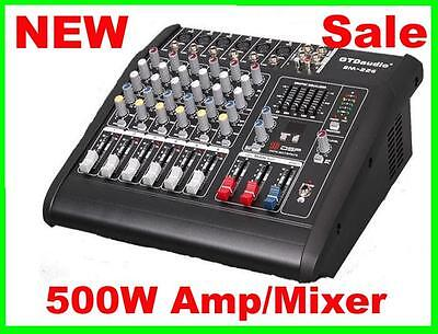 6 Channel 1000W Professional Powered Mixer power mixing Amplifier Amp on Rummage