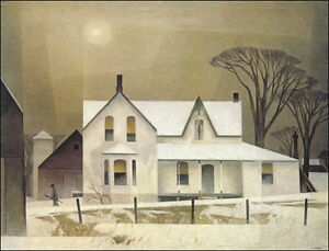 "A.J. Casson ""Winter Sun"" Lithograph - Appraised at $1400"