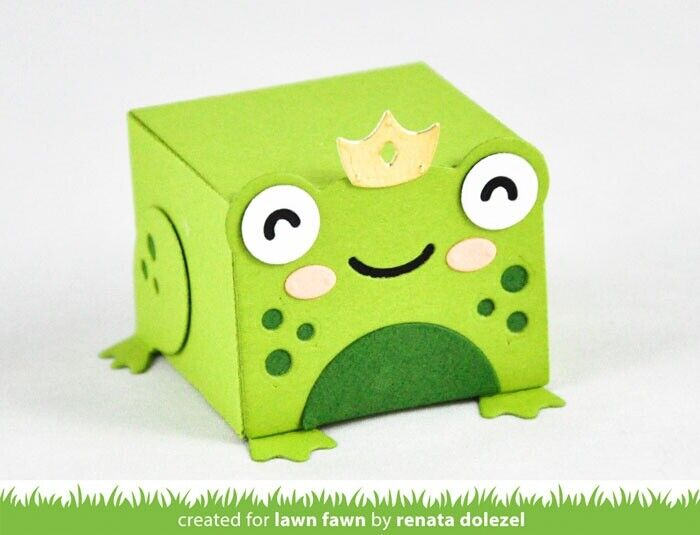 Lawn Cuts Custom Craft Die -Tiny Gift Box Frog Add-On