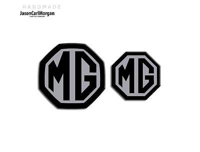 MG ZR MK1 LE500 Style Badge Inserts Front /& Rear 59mm Green Carbon Badges